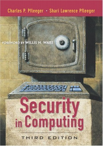 Security in Computing  3rd 2003 (Revised) edition cover