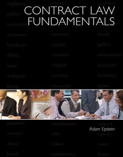 Contract Law Fundamentals   2008 9780131147485 Front Cover