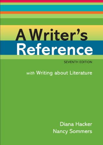 Writer's Reference with Writing about Literature  7th 2011 edition cover