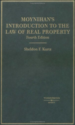 Introduction to the Law of Real Property An Historical Background of the Common Law of Real Property and Its Modern Application 4th 2005 (Revised) edition cover