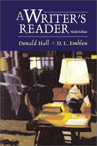 Writer's Reader  9th 2002 edition cover