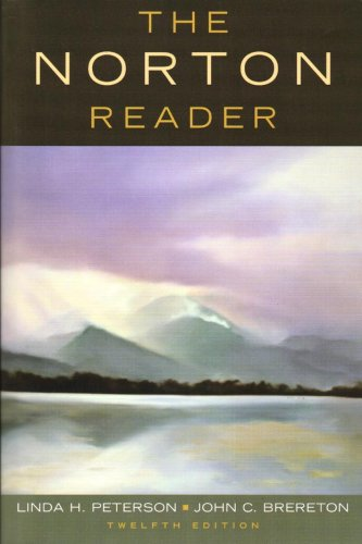 Norton Reader An Anthology of Nonfiction 12th 2008 edition cover