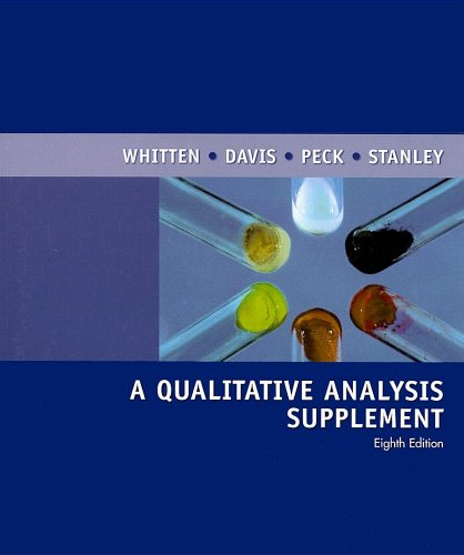 Qualitative Analysis Supplement, 8th  8th 2007 edition cover