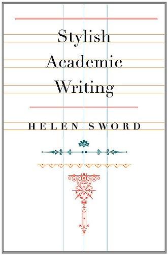Stylish Academic Writing   2012 edition cover