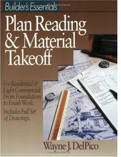Plan Reading and Material Takeoff   1994 9780876293485 Front Cover