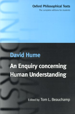 Enquiry Concerning Human Understanding   1999 edition cover