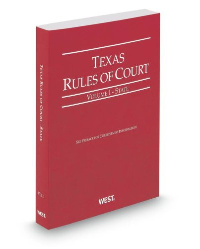TEXAS RULES OF COURT,STATE-201 N/A 9780314655486 Front Cover