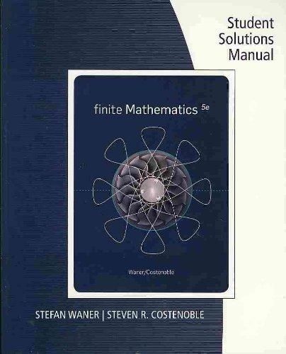 Finite Mathematics  5th 2011 9780538734486 Front Cover
