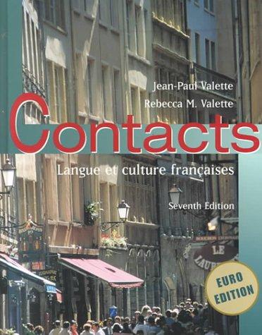 Contacts Langue et Culture Fran�aises 7th 2001 edition cover