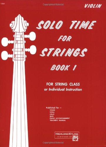 Solo Time Strings, Violin   1990 edition cover