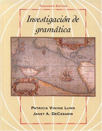 Investigacion de Gramatica   1992 edition cover