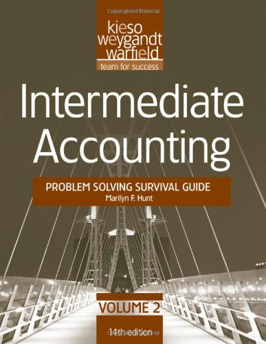 Intermediate Accounting Problem Solving Survival Guide 14th 2012 edition cover