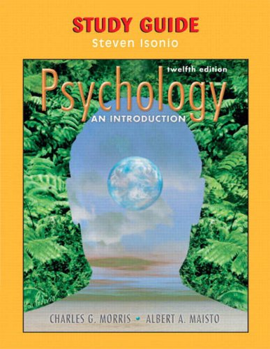 Psychology an Introduction  12th 2005 (Student Manual, Study Guide, etc.) 9780131891487 Front Cover