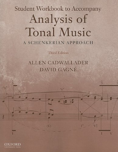 Analysis of Tonal Music A Schenkerian Approach 3rd 2012 (Student Manual, Study Guide, etc.) edition cover