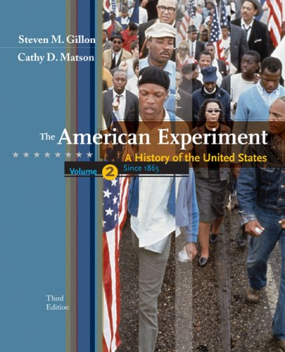 American Experiment A History of the United States since 1865 3rd 2008 9780547056487 Front Cover