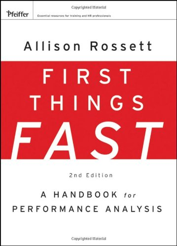 First Things Fast A Handbook for Performance Analysis 2nd 2009 edition cover