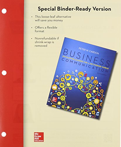 Loose Leaf for Business Communication: Developing Leaders for a Networked World  2nd 2016 edition cover