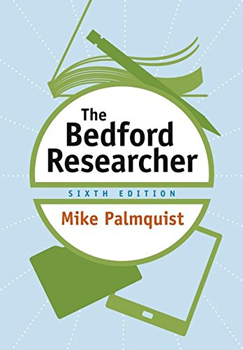 Bedford Researcher  6th 2018 9781319058487 Front Cover
