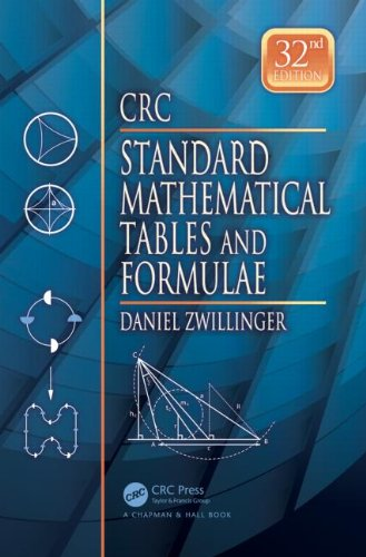 Crc Standard Mathematical Tables and Formulae  32nd 2011 (Revised) edition cover