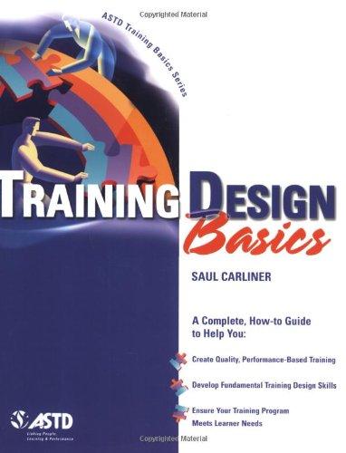 Training Design Basics   2003 edition cover