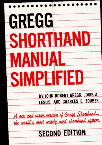 Gregg Shorthand Manual Simplified  2nd 1955 (Revised) edition cover