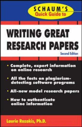 Writing Great Research Papers  2nd 2008 (Revised) edition cover
