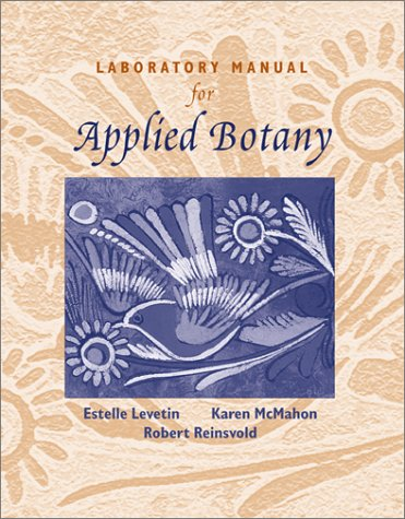 Laboratory Manual for Applied Botany   2002 (Lab Manual) edition cover