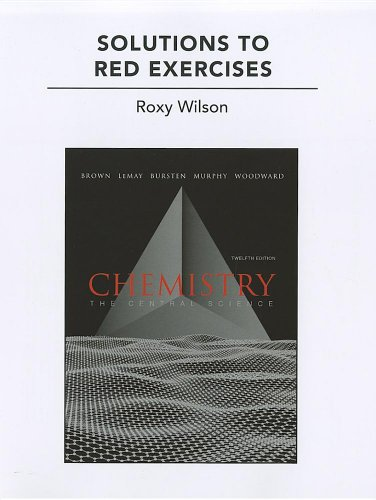 Solutions to Red Exercises for Chemistry The Central Science 12th 2012 (Revised) edition cover