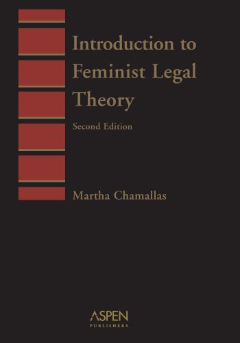 Introduction to Feminist Legal Theory  2nd 2003 (Student Manual, Study Guide, etc.) edition cover