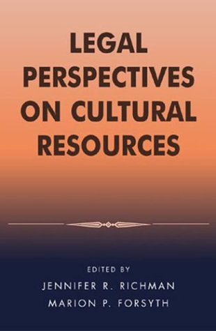 Legal Perspectives on Cultural Resources   2003 edition cover