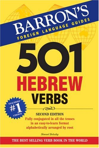 501 Hebrew Verbs  2nd 2008 (Revised) edition cover