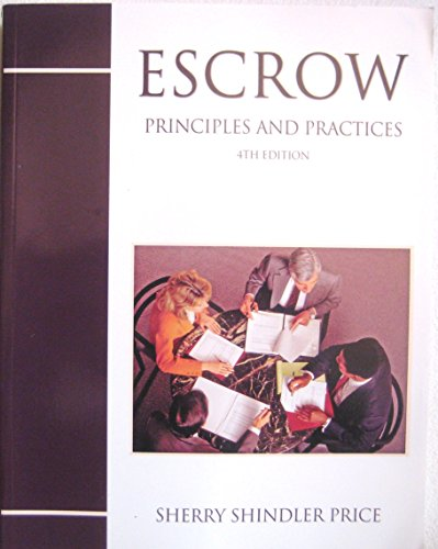 Escrow Principles and Practice 4th 2005 edition cover