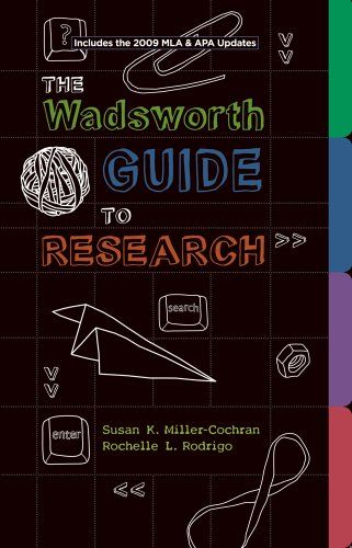 Wadsworth Guide to Research, Documentation Update Edition   2011 edition cover