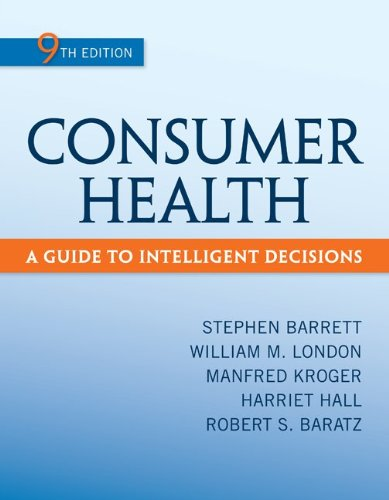 Consumer Health A Guide to Intelligent Decisions 9th 2013 edition cover