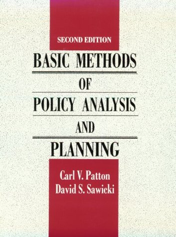 Basic Methods of Policy Analysis and Planning  2nd 1993 edition cover