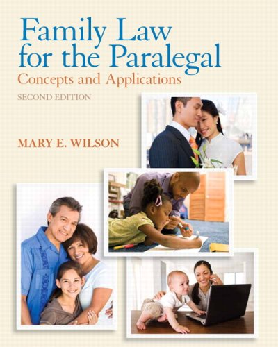Family Law for the Paralegal Concepts and Applications 2nd 2013 (Revised) edition cover