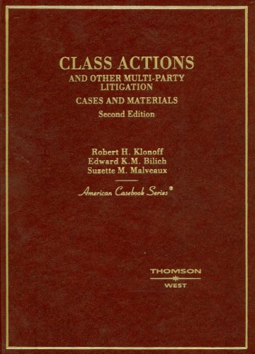 Class Actions and Other Multi-Party Litigation Cases and Materials 2nd 2006 (Revised) edition cover