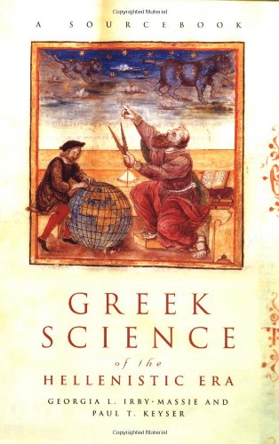 Greek Science of the Hellenistic Era A Sourcebook  2001 edition cover