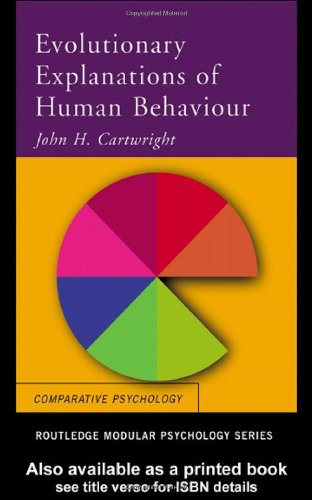 Evolutionary Explanations of Human Behaviour   2001 edition cover
