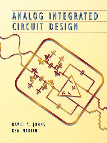 Analog Integrated Circuit Design  1st 1997 edition cover