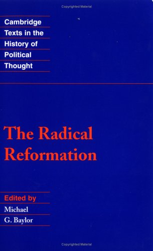 Radical Reformation   1991 edition cover