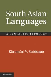 South Asian Languages A Syntactic Typology  2012 9780521861489 Front Cover