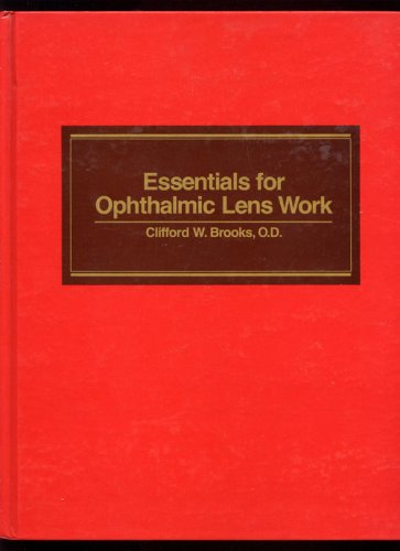 Essentials for Ophthalmic Lens Work   1983 9780750692489 Front Cover