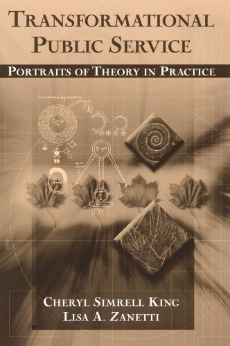 Transformational Public Service Portraits of Theory in Practice  2005 edition cover