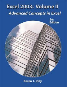 Excel 2003 Advanced Concepts in Excel 5th 2004 (Revised) 9781576761489 Front Cover