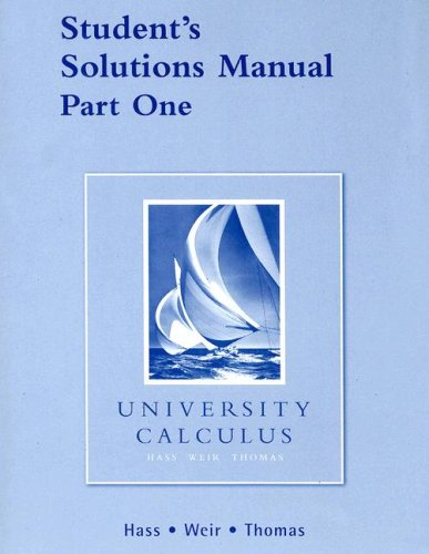 University Calculus:   2006 edition cover