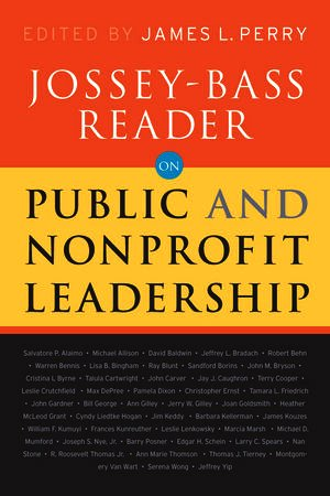 Jossey-Bass Reader on Nonprofit and Public Leadership   2010 edition cover