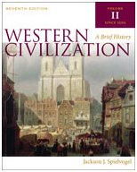 Western Civilization A Brief History 7th 2011 (Brief Edition) 9780495571490 Front Cover