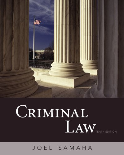 Ciminal Law  10th 2011 edition cover