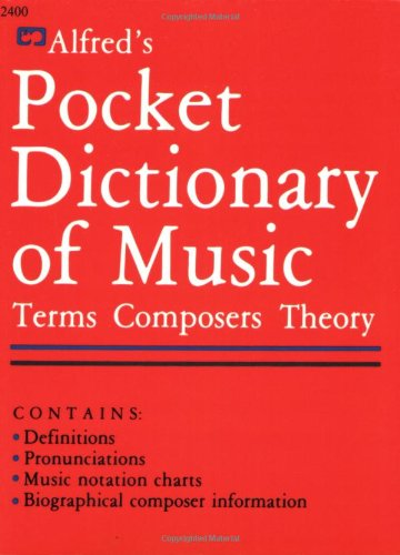 Alfred's Pocket Dictionary of Music   1985 edition cover